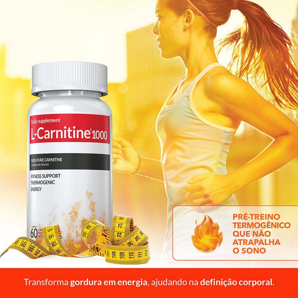 Combo Derrete gorduras  L-Carnitina c/ 03 POTES c/ 60 cápsulas (termogênico)