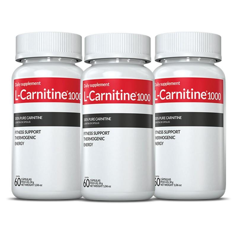 Derrete gorduras  L-Carnitina c/ 03 POTES c/ 60 cápsulas (termogênico)
