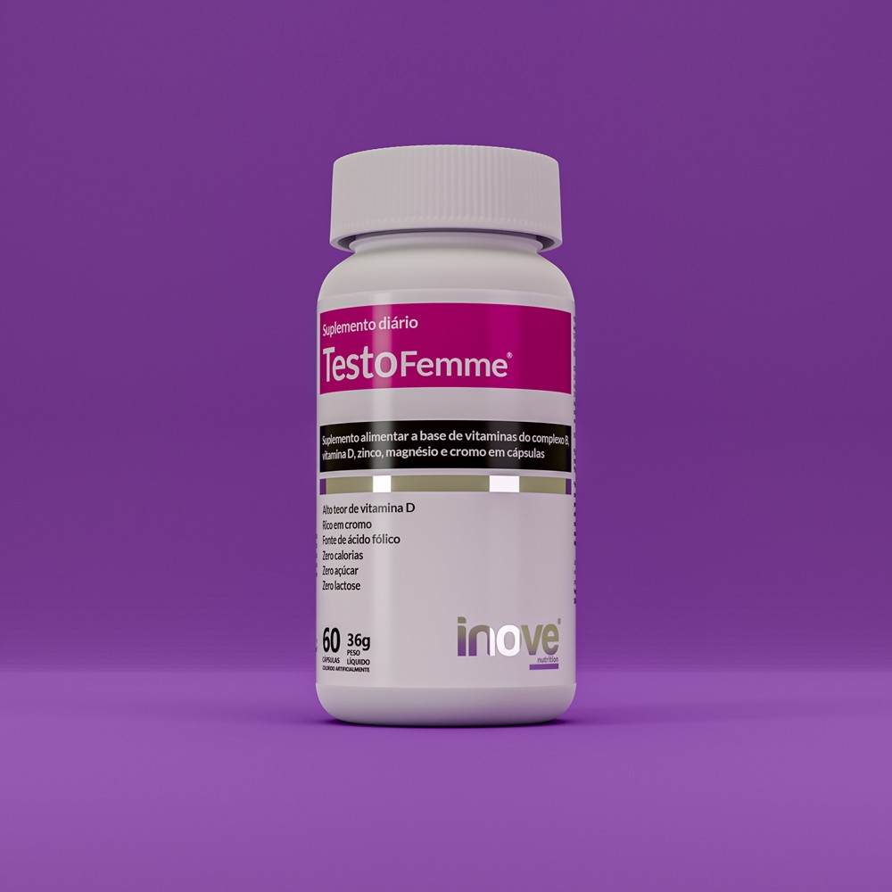 Kit 01 Testofemme + 01 L-Carnitina Inove Nutrition