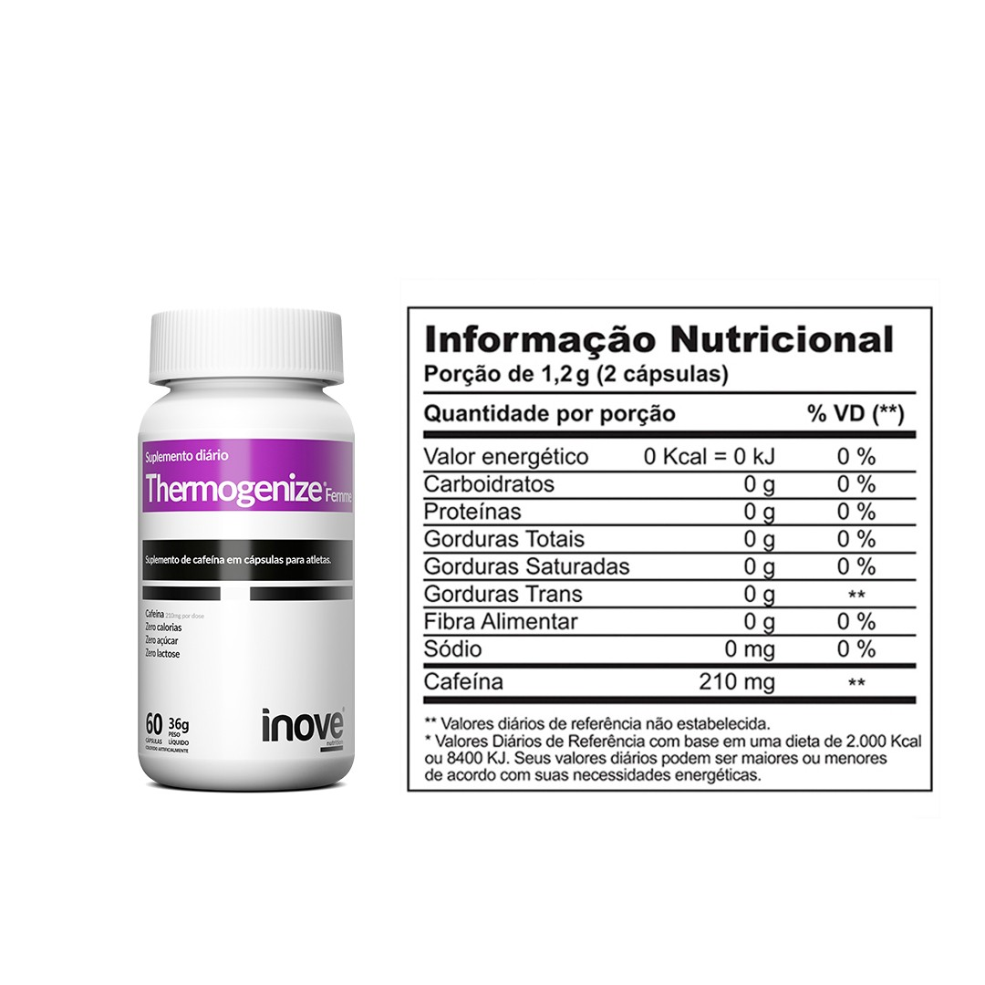 Kit Thermogenize Femme - 3 Potes - 60 caps. cada - Inove Nutrition