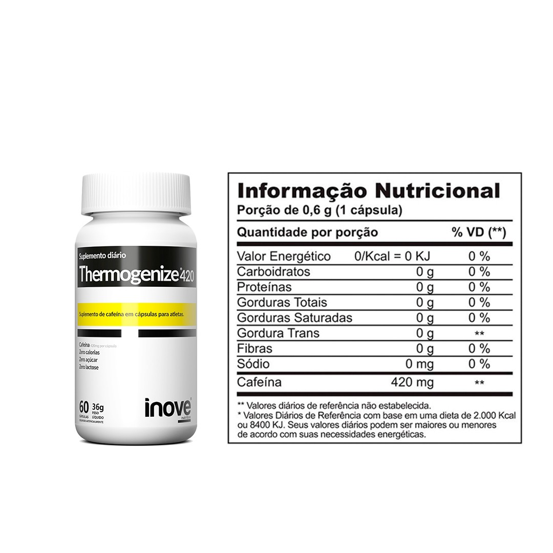 Kit Fort Energia & Vitalidade + L-Carnitina 1000 + Thermogenize 420 - c/60 caps cada - Inove Nutrition