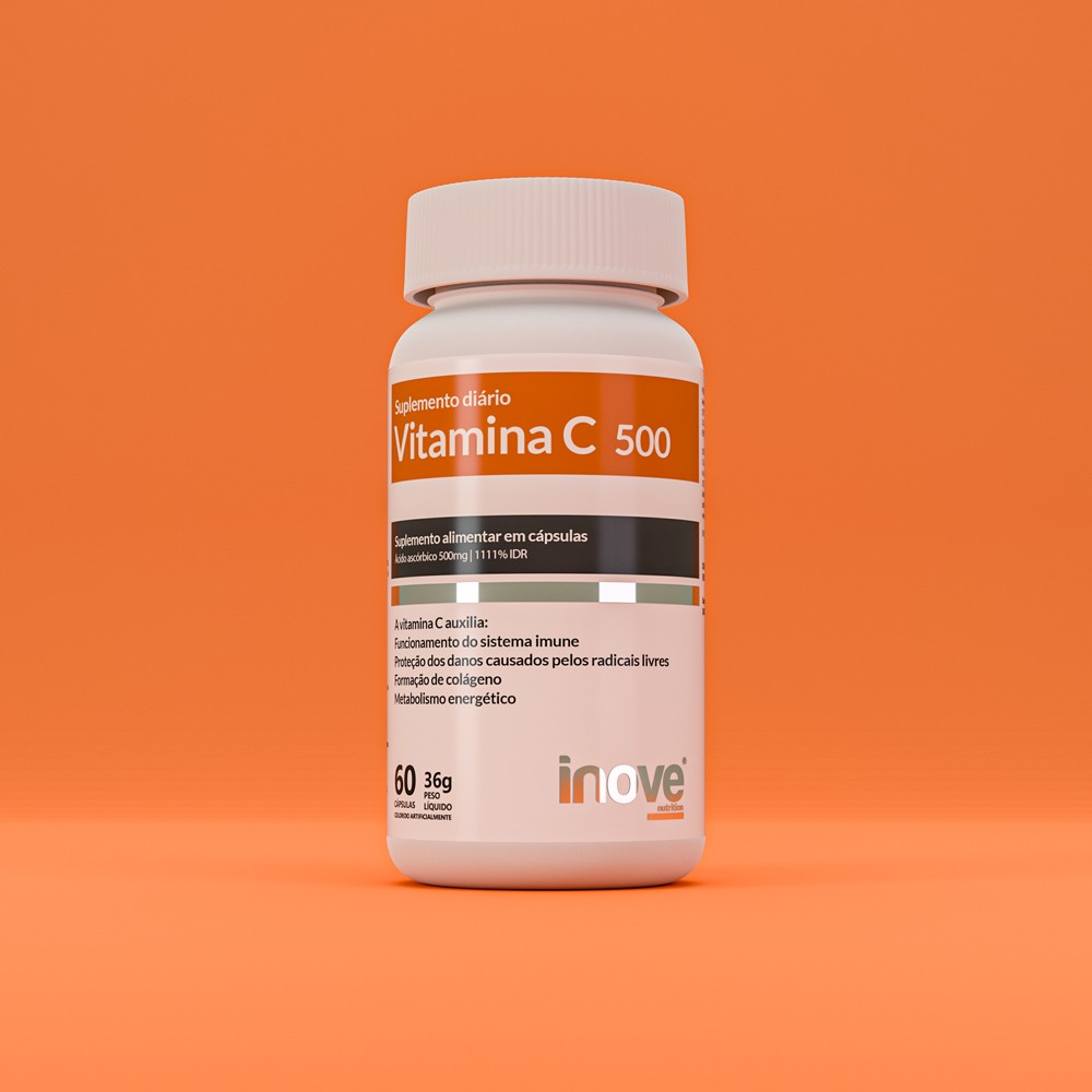 Kit Triptofano Dreams 860mg + Testopro 500 + Vitamina C 500 - c/60 caps cada - Inove Nutrition
