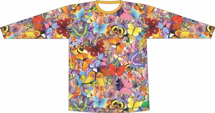 Camiseta Proteção UV Borboletas