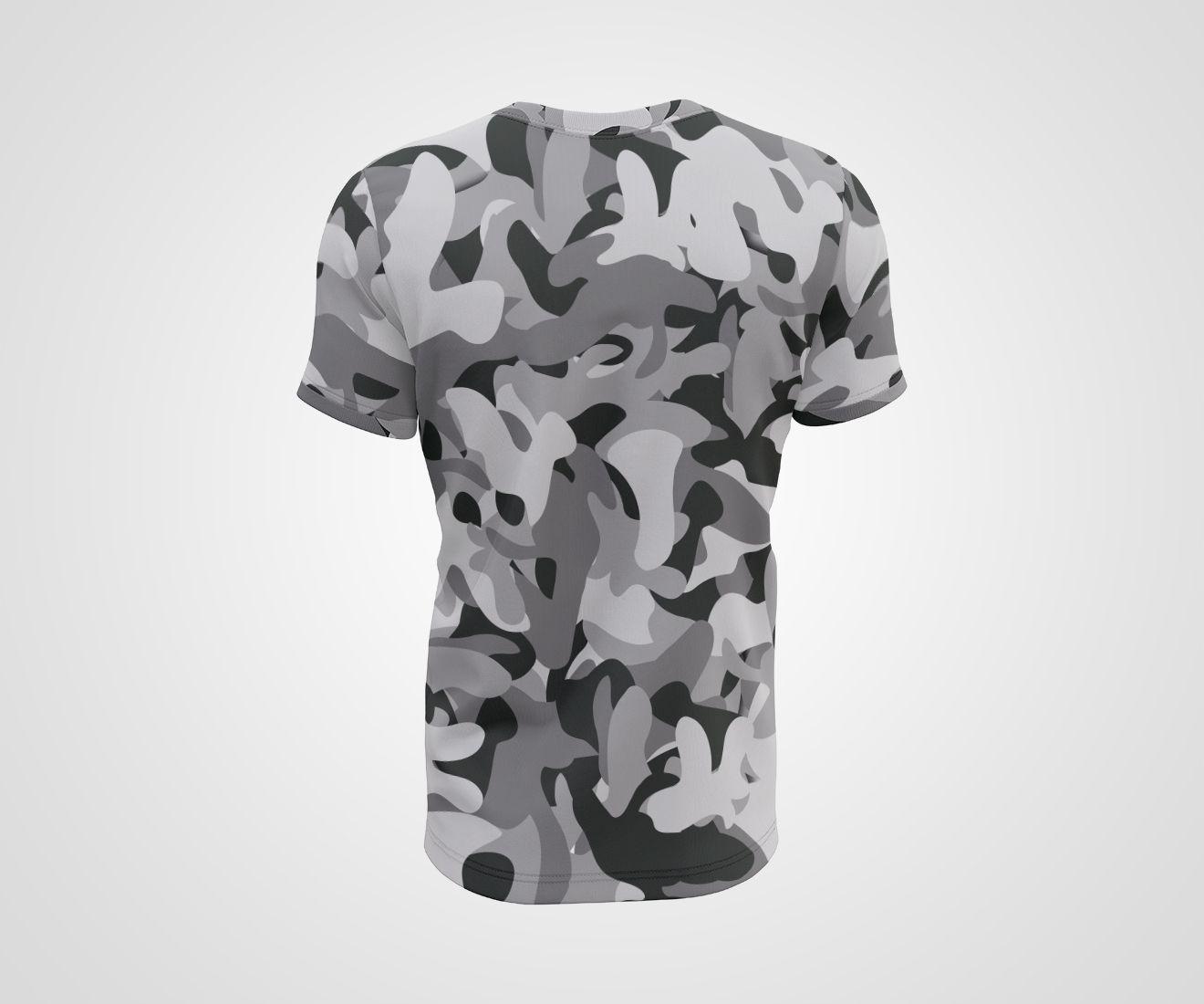 Camiseta Dry - Crossfit Army Camuflada Branca