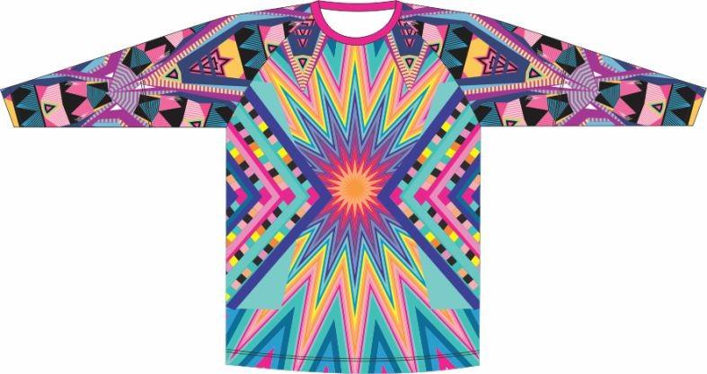 Camiseta Proteção UV Geometrico 03