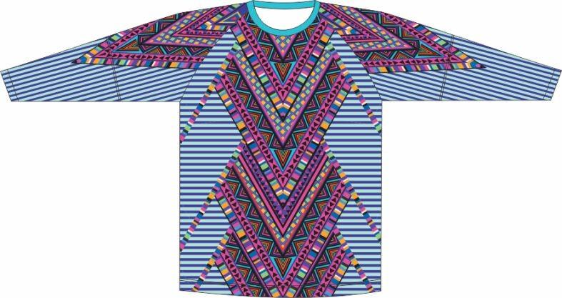 Camiseta Proteção UV Geometrico 04
