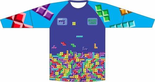 Camiseta Proteção UV Tetris