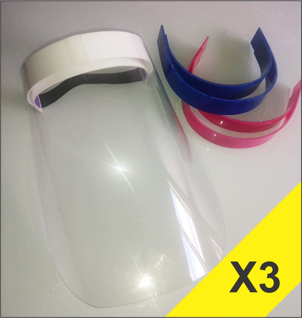 Máscara Face Shield - Kit 3 Unidades - R$27,00/Un