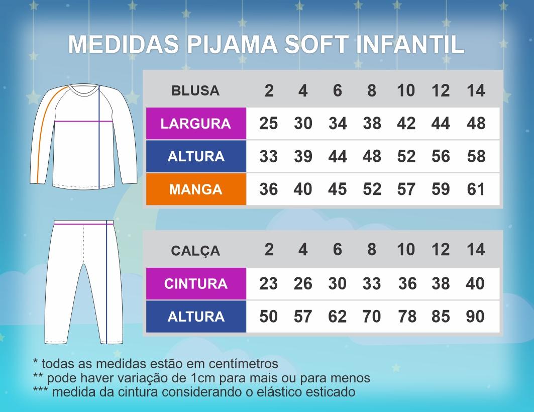 Pijama Soft Infantil - 3 por R$ 149,90