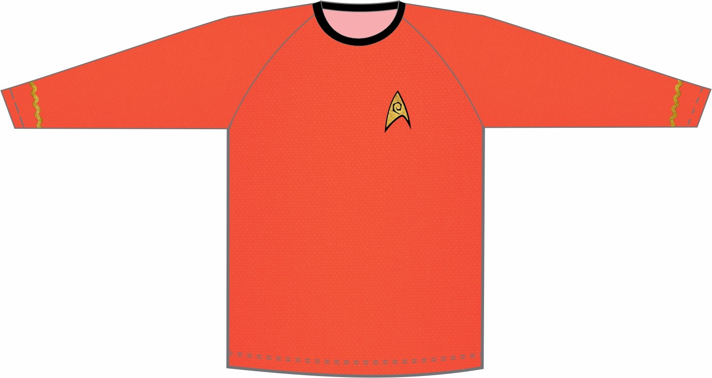 Star Trek - Jornada nas Estrelas - Uniforme Engenharia