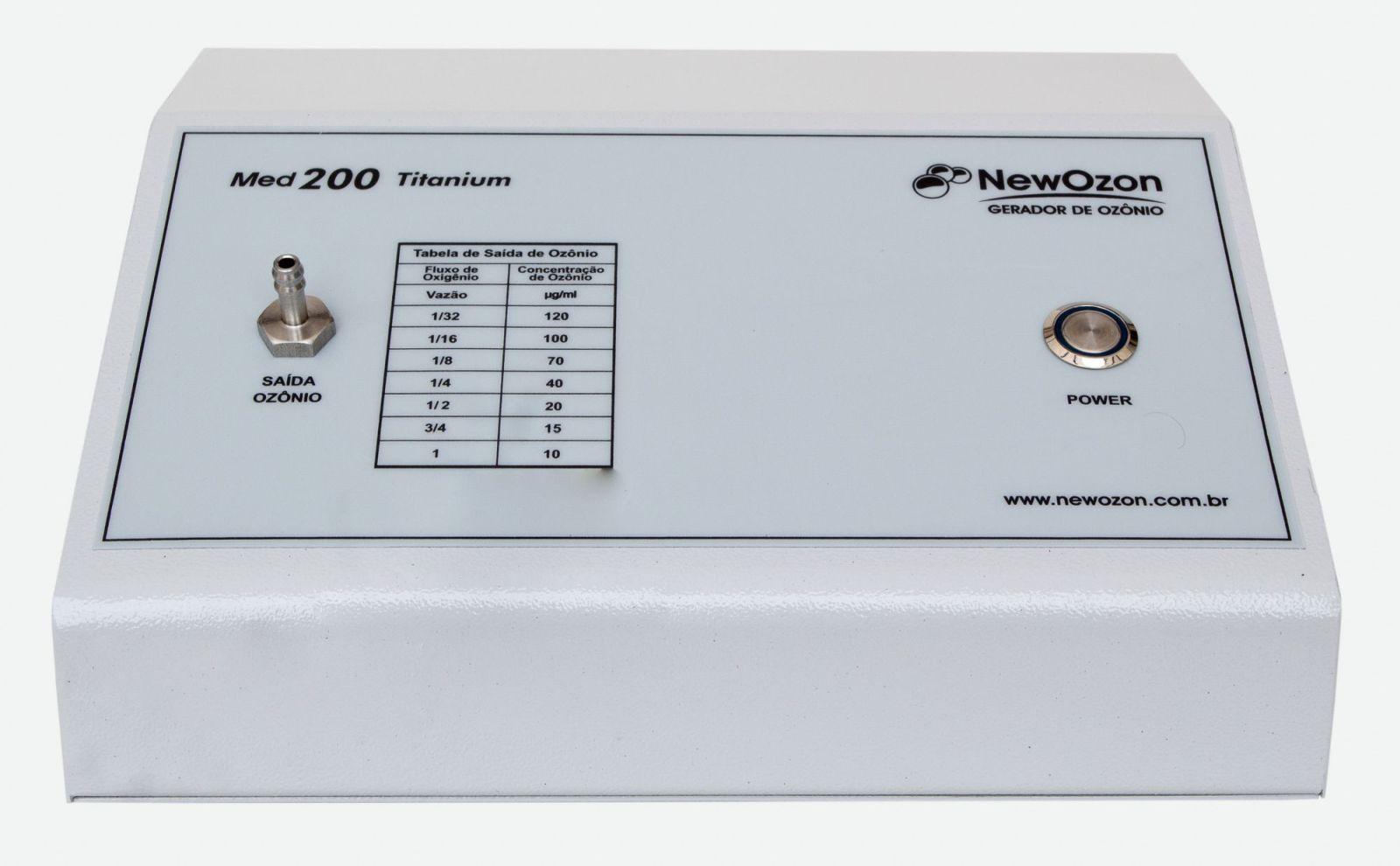 NewOzon Med 200 Titanium Gerador de Ozônio de Uso Medicinal, indicado para uso Médico, Odontológico ou Veterinário.