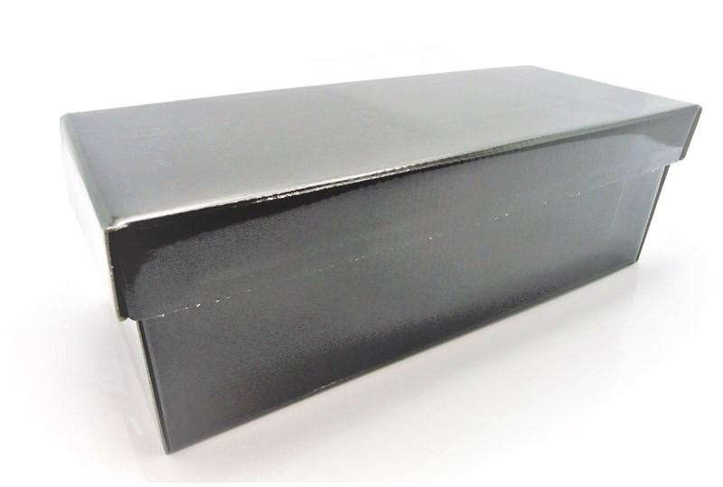 100 caixas adulto - 28 X 14 cm - Preto Verniz