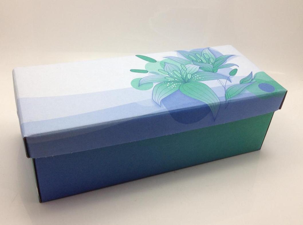 100 caixas adulto - 28 X 12 cm - Flor Verde