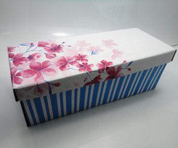 100 caixas adulto - 28 X 12 cm - Flor Vermelho
