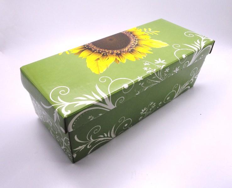100 caixas adulto - 28 X 12 cm - Girassol