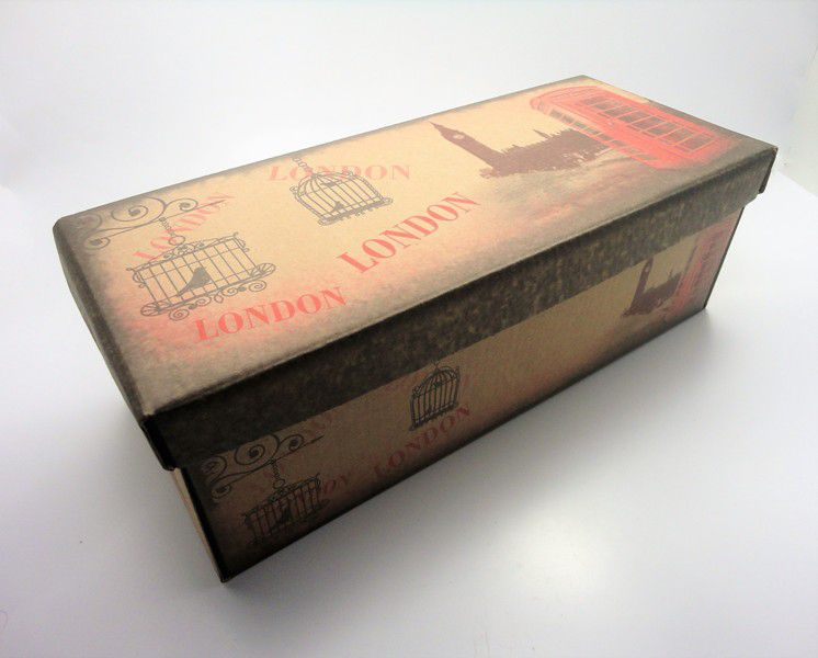 100 caixas adulto - 28 X 12 cm - Kraft London