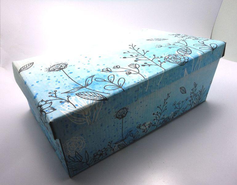 100 caixas adulto - 28 X 18 cm - Abstrato Azul