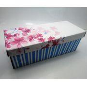 100 caixas adulto - 28 X 12 cm - Listras Rosa