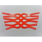 Cabedal rasteirinha fluorescente laranja