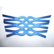 Cabedal rasteirinha metalizado azul