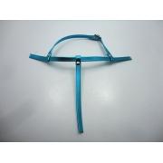 Cabedal rasteirinhas  tiras 9 mm metalizado azul claro