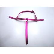Cabedal rasteirinhas  tiras 9 mm metalizado pink