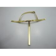 Cabedal rasteirinhas tiras 9 mm ouro espelhado
