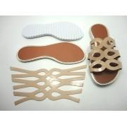 Kit para fabricação de rasteirinhas - Cabedal Bege