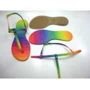 Kit para fabricação de rasteirinhas - Cabedal Tiras 8 mm - Tie Dye