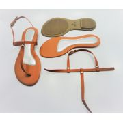 Kit para fabricação de rasteirinhas - Cabedal Tiras 9 mm - Caramelo