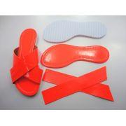 Kit para fabricação de rasteirinhas - X Fluorescente Laranja