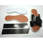 Kit para fabricação de rasteirinhas - X Preto