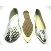 Kit para fabricação de sapatilhas bico fino - Matelassê prata
