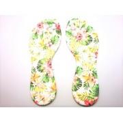 Palmilha c/ Espuma Flores Costurada