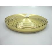 Tiras 15 mm Ouro Espelhado  - Rolo 10 metros
