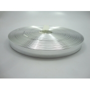 Tiras 15 mm Prata Espelhado  - Rolo 10 metros