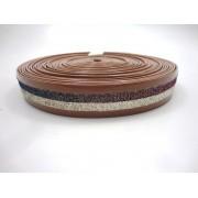 Tiras 20 mm Caramelo Verniz com Glíter - Rolo 10 metros