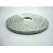 Tiras 9 mm Glitter Prata - Rolo 10 metros