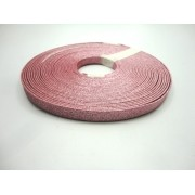 Tiras 9 mm Glitter Rosa - Rolo 10 metros