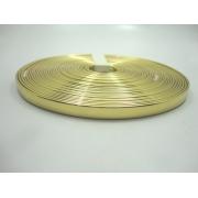 Tiras 9 mm Ouro Espelhado - Rolo 10 metros