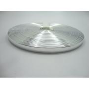 Tiras 9 mm Prata Espelhado - Rolo 10 metros