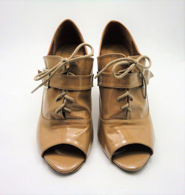 Ankle Boot Verniz Bege