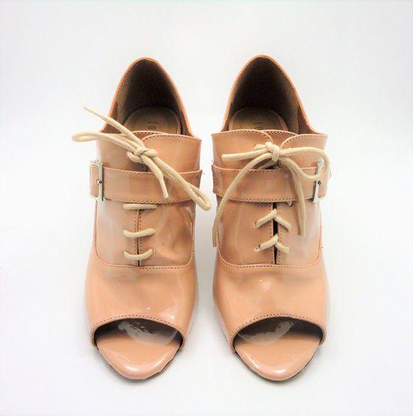 Ankle Boot Verniz Nude