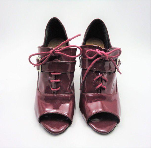 Ankle Boot Verniz Vinho
