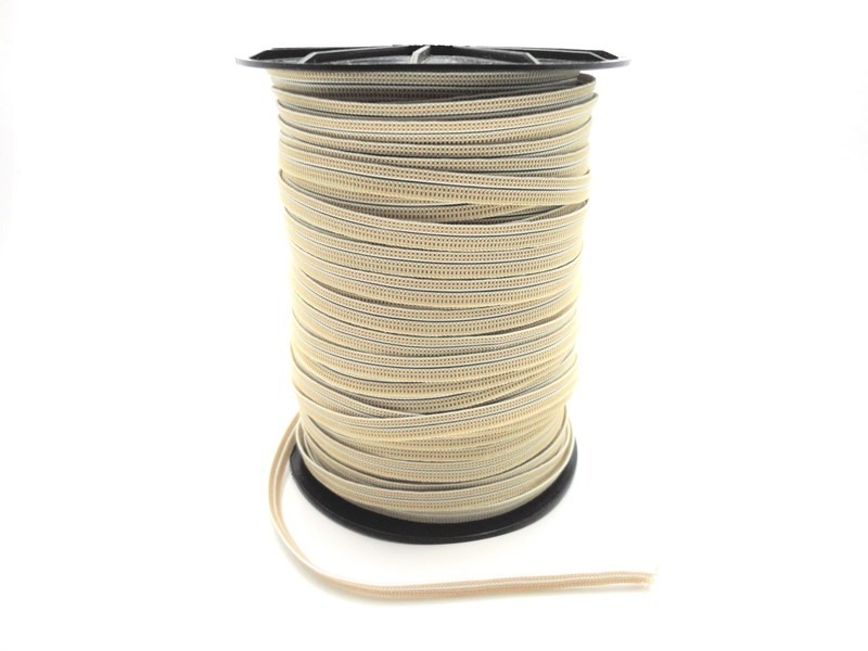 Bi Elástico 8 mm Bege - Rolo 25 metros