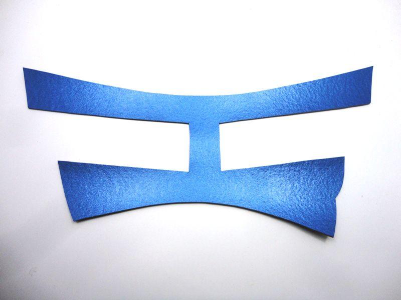 Cabedal rasteirinha H metalizado azul