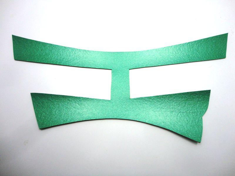 Cabedal rasteirinha H metalizado verde