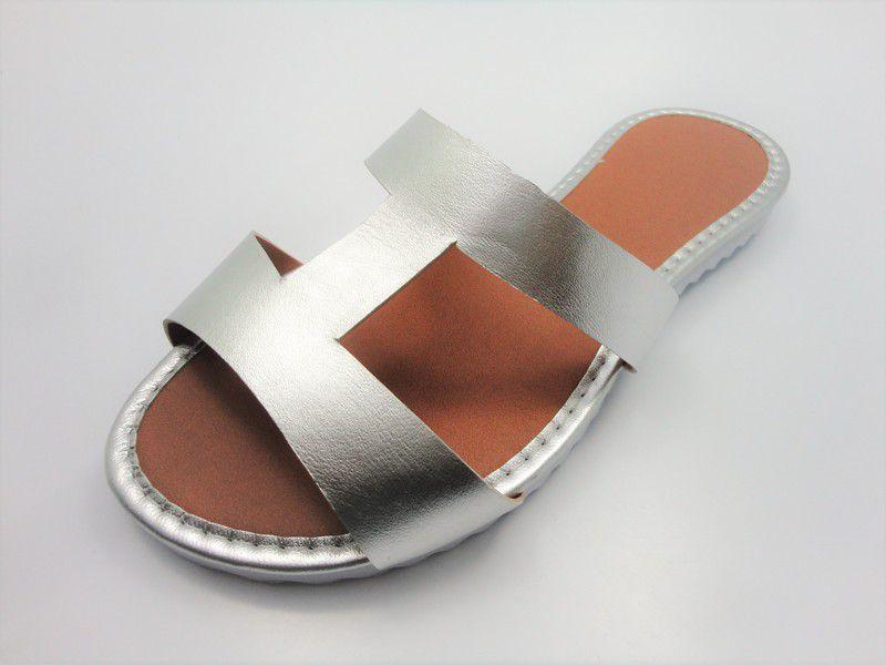 Cabedal rasteirinha H prata
