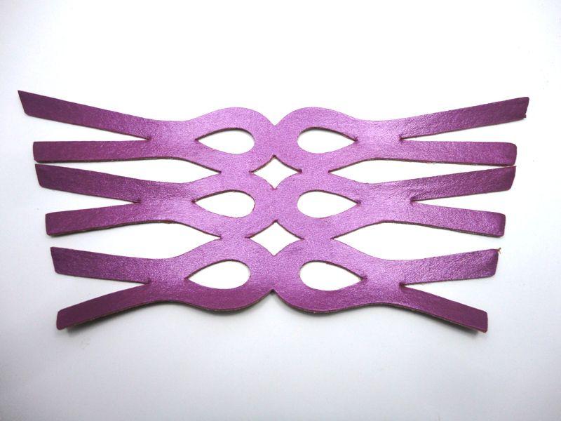 Cabedal rasteirinha metalizado roxo
