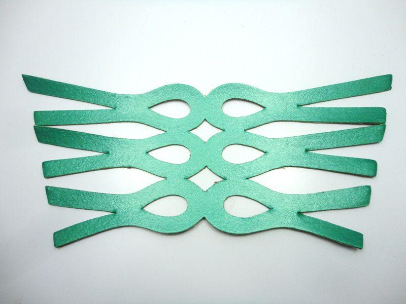 Cabedal rasteirinha metalizado verde